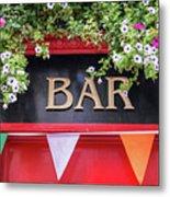 Irish Bar In Dublin Metal Print