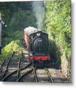 J27 Locomotive 65894 On North York Moors Railway Metal Print