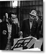 Jones & Sinatra In Studio Metal Print