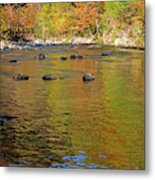 Little River In Autumn In Smoky Mountains National Park Metal Print