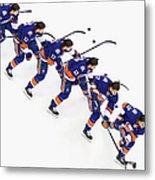 Los Angeles Kings V New York Islanders Metal Print