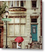 Love On The Square Metal Print