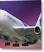 Malaysia Airlines Airbus A380-841 Metal Print