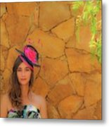 Mamin With Hat Metal Print