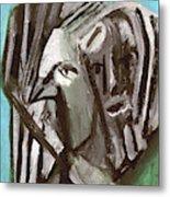 Man And A Bird Metal Print