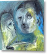 Man And Bird Metal Print