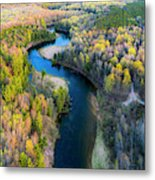 Manistee River From Above In Spring Metal Print