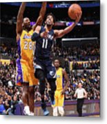 Memphis Grizzlies V Los Angeles Lakers Metal Print