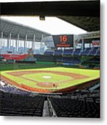 Miami Marlins News Conference Metal Print