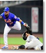 Miami Marlins V New York Mets - Game Two Metal Print