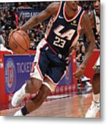 Milwaukee Bucks V La Clippers Metal Print