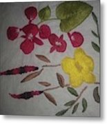 Moms Hand Embroidery Metal Print