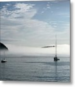 Morning Mist On Frenchman's Bay Metal Print