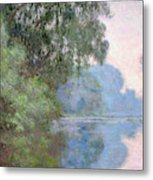 Morning On The Seine Near Giverny, 1897 Metal Print