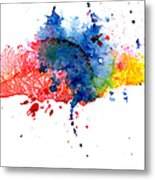 Multicolored Splashes Metal Print