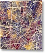 Munich Germany City Map Metal Print