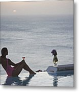 Mustique Tranquility Metal Print