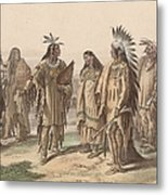 Native Americans Metal Print
