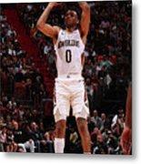 New Orleans Pelicans V Miami Heat Metal Print