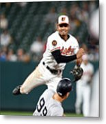 New York Yankees V Baltimore Orioles 1 Metal Print