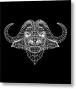 Night Buffalo Metal Print