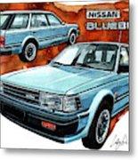 Nissan Bluebird Sw Metal Print