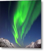 Northern Lights Aurora Borealis At A Metal Print