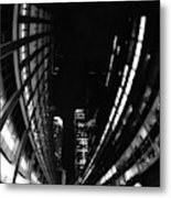 Nyc In Black And White Vii Metal Print