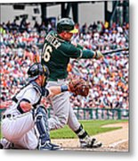 Oakland Athletics V Detroit Tigers 1 Metal Print