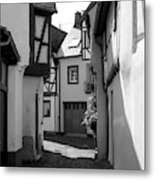 old historic street in Ediger Germany Metal Print