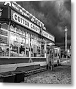 On The Midway - Temptations Of The Night 4 Bw Metal Print