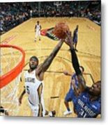 Orlando Magic V New Orleans Pelicans Metal Print