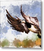 Over The Marsh  Metal Print