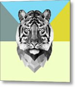 Party Tiger Metal Print