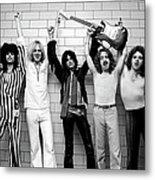 Photo Of Aerosmith And Tom Hamilton And Metal Print