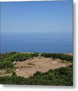 Photography View Over The Mountain Village Erice In Sicily Metal Print