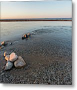 Platte River Mouth At Sunset Metal Print