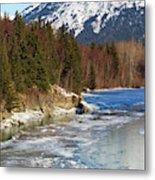 Portage Creek Portage Glacier Highway, Alaska Metal Print