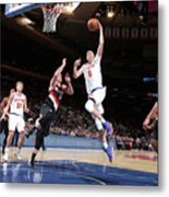 Portland Trail Blazers V New York Knicks Metal Print