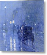 Rainy Midnight, Late 1890s  Metal Print