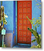 Red Door Adobe Metal Print