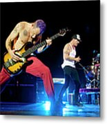 Red Hot Chili Peppers Perform At O2 Metal Print