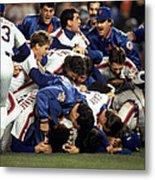 Red Sox V Mets Metal Print