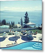 Relaxing At Lake Tahoe Metal Print