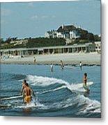 Rhode Island Surfers Metal Print