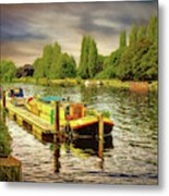 River Work Metal Print
