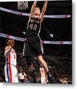 San Antonio Spurs V Detroit Pistons Metal Print