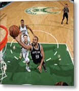 San Antonio Spurs V Milwaukee Bucks Metal Print