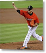 San Francisco Giants V Miami Marlins Metal Print