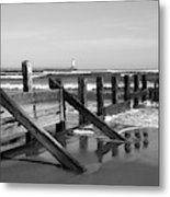 Sea Barrier Metal Print